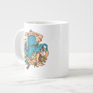 Caneca De Café Grande Elevação do polvo do monstro de Kraken