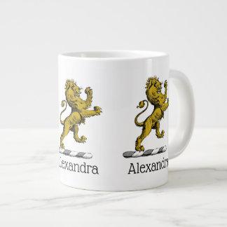 Caneca De Café Grande Emblema ereto C da crista do leão heráldico