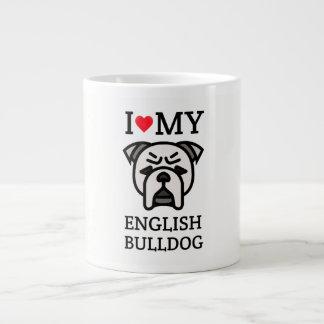 Caneca De Café Grande Eu amo meu buldogue inglês