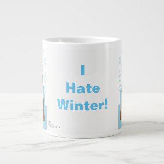 Caneca De Café Grande Eu deio o inverno por Evaw Nomis