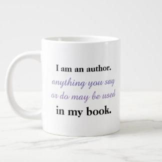 Caneca De Café Grande Eu sou um autor