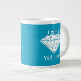 Caneca De Café Grande Eu sou um diamante sim que eu Uplifting