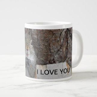 Caneca De Café Grande Eu te amo esquilo bonito
