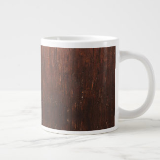 Caneca De Café Grande Falso de Brown escuro de madeira