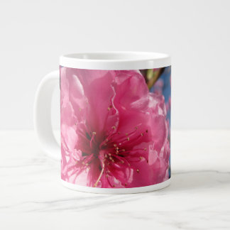Caneca De Café Grande Flores cor-de-rosa