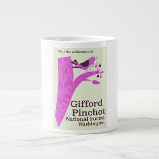 Caneca De Café Grande Floresta nacional Washington de Gifford Pinchot