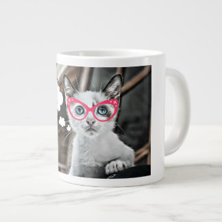 Caneca De Café Grande Gato Loving para fora forçado do café