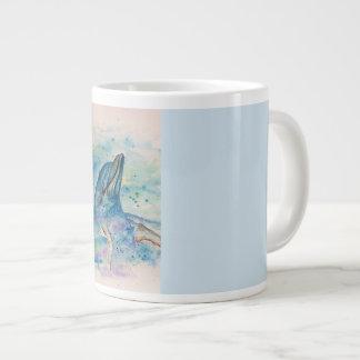 Caneca De Café Grande Golfinho na água