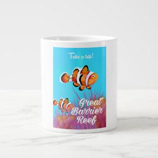 Caneca De Café Grande Grande poster dos desenhos animados dos peixes do