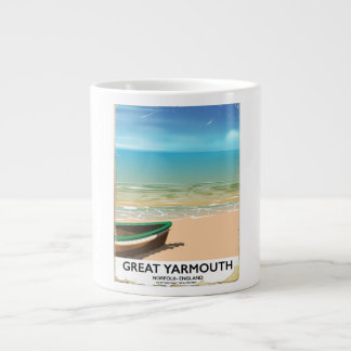 Caneca De Café Grande Great Yarmouth, Norfolk, poster de viagens do