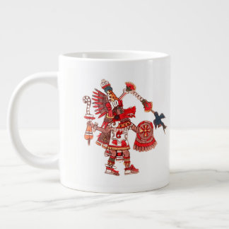 Caneca De Café Grande Guerreiro asteca do shaman da dança