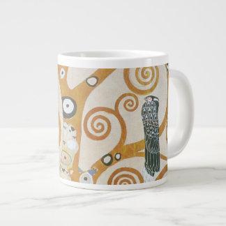Caneca De Café Grande Gustavo Klimt a árvore da arte Nouveau da vida