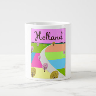 Caneca De Café Grande Holland coloca o poster de viagens