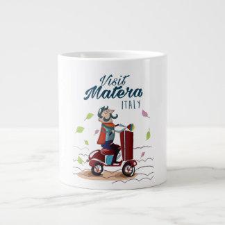 Caneca De Café Grande Impressão do viagem do patinete dos desenhos