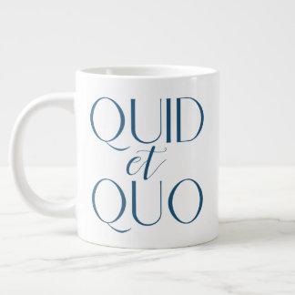 Caneca De Café Grande Libra CUSTOMIZÁVEL e educação clássica de Quo