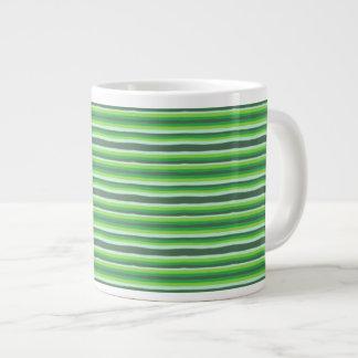 Caneca De Café Grande Listras verdes