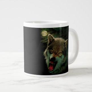 Caneca De Café Grande Lua do lobo