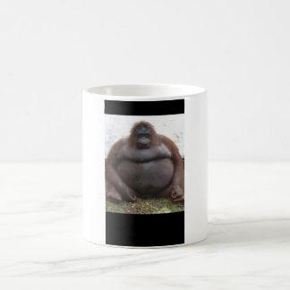 Caneca De Café Grande macaco que senta-se para baixo