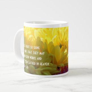 Caneca De Café Grande (Mães amarelas na luz solar) verso floral da