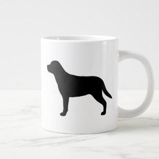 Caneca De Café Grande Maiores silhuetas suíças do cão da montanha