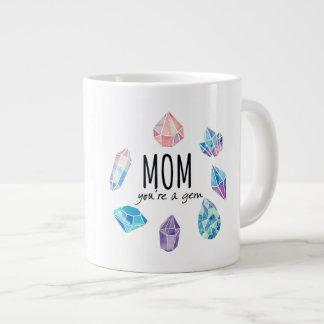 Caneca De Café Grande Mamã você é uma gema