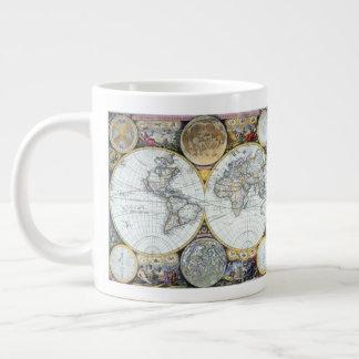 Caneca De Café Grande Mapa do mundo antigo, atlas Maritimus pelo
