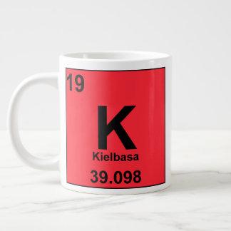 Caneca De Café Grande Mesa periódica de elementos de Foodie: Kielbasa