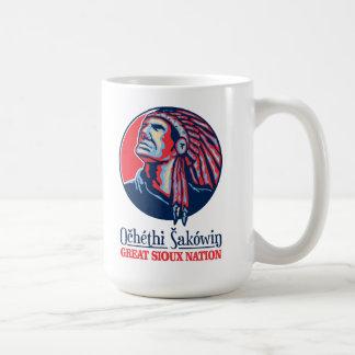 Caneca De Café Grande nação de Sioux