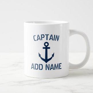 Caneca De Café Grande Nome feito sob encomenda do capitão do barco &