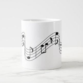 Caneca De Café Grande Notas musicais