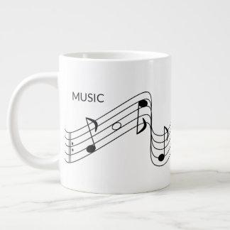 Caneca De Café Grande Notas musicais para o professor de música