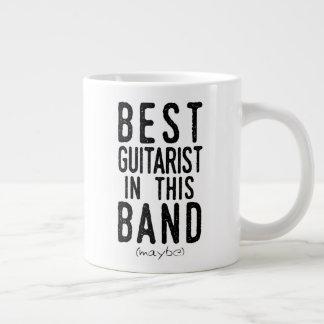 Caneca De Café Grande O melhor guitarrista (talvez) (preto)