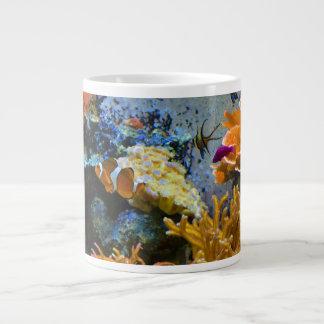 Caneca De Café Grande oceano do coral dos peixes do recife