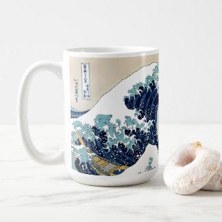 Caneca De Café Grande onda restaurada fora de Kanagawa por