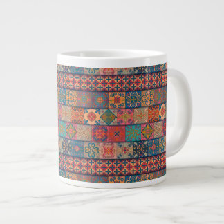 Caneca De Café Grande Ornamento de talavera do mosaico do vintage