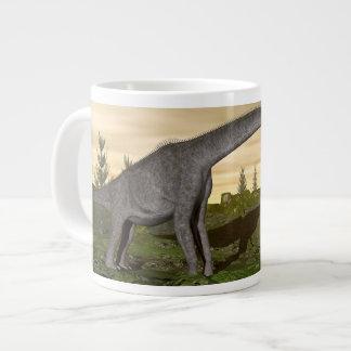 Caneca De Café Grande Os dinossauros 3D do Brachiosaurus e do