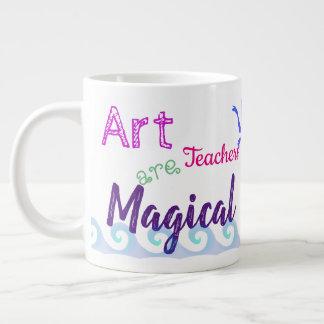 Caneca De Café Grande Os professores de arte são mágicos