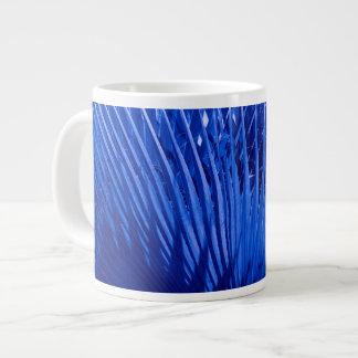 Caneca De Café Grande Palmas azuis