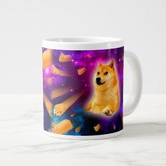 Caneca De Café Grande pão - doge - shibe - espaço - uau doge