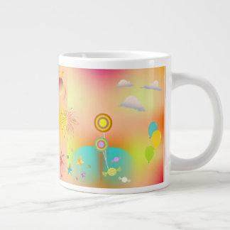 Caneca De Café Grande partido e cores