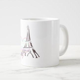 Caneca De Café Grande Pastel no jumbo de Paris agredido