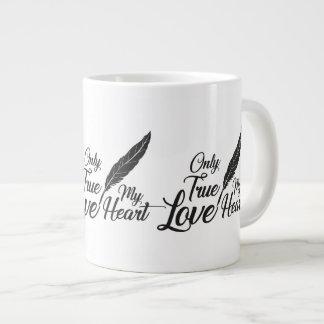 Caneca De Café Grande Pena verdadeira do amor da ilustração