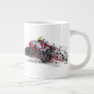 Caneca De Café Grande Piloto de pressa da motocicleta