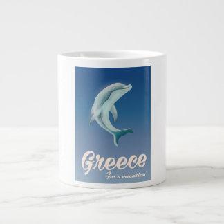 Caneca De Café Grande Piscina para um poster de viagens do golfinho das