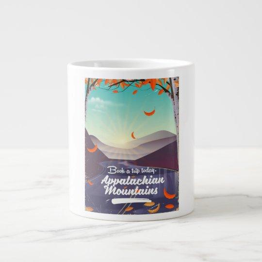 Caneca De Café Grande Poster das viagens vintage das montanhas apalaches