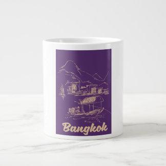 Caneca De Café Grande Poster de viagens de Banguecoque, Tailândia
