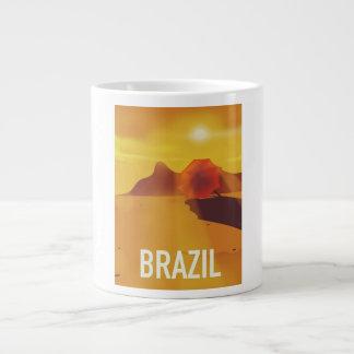 Caneca De Café Grande Poster de viagens de Brasil