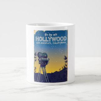 Caneca De Café Grande Poster de viagens de Hollywood Los Angeles