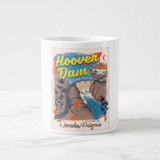Caneca De Café Grande Poster de viagens do barragem Hoover