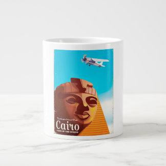 Caneca De Café Grande Poster de viagens do estilo do vintage do Cairo
